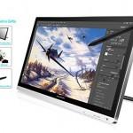 Huion® GT-220 Tablet-Monitor 21,5 Zoll Interactive Pen-Monitor Pen Display IPS-Panel HD Auflösung (1920x1080) mit Schirmschutz und schwarzem Handschuh